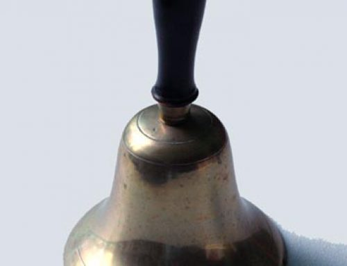 District 8 school bell donated by Clara Stewart in 2016.